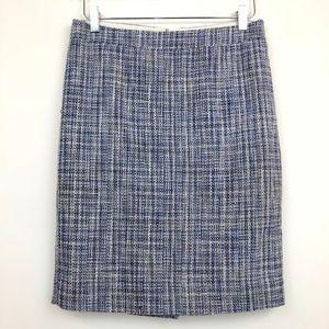 J. Crew No. 2 Pencil Skirt in Basket-Weave Tweed